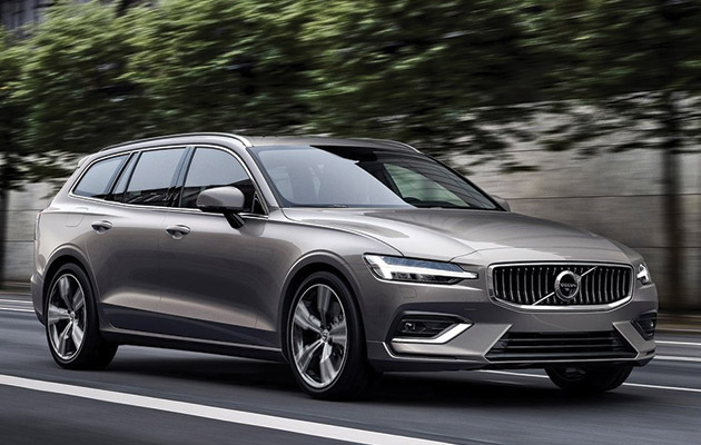Volvo V60, årgang 2019, i farven Birch Light Metal